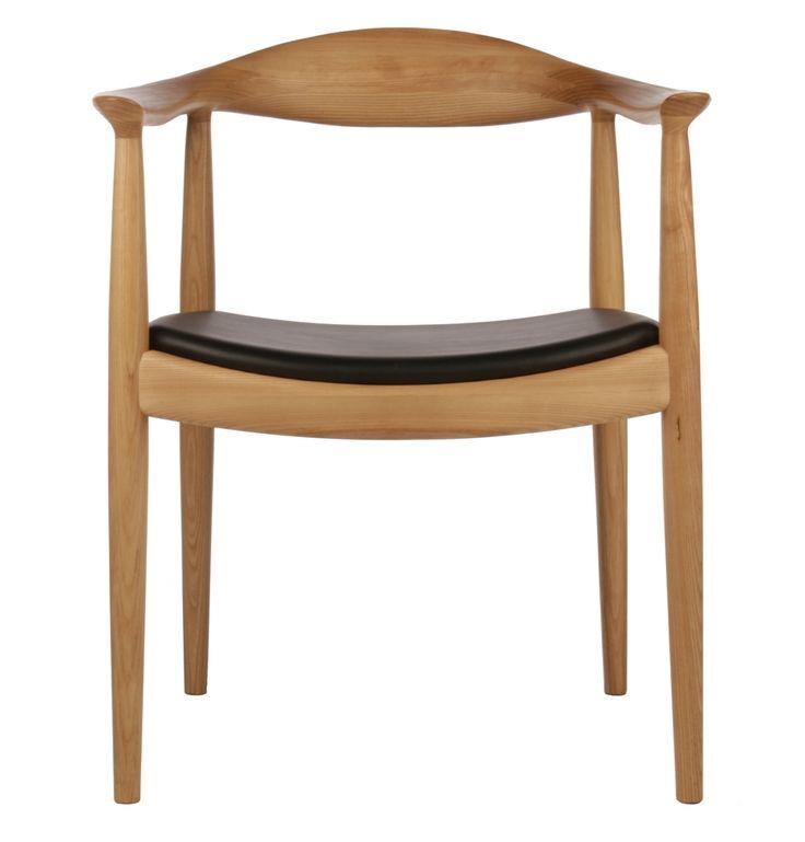 Replica Hans Wegner Round Chair Ash   Matt Blatt