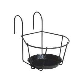 support 1 pot 16 cm noir id e pot pour balcon pinterest pots. Black Bedroom Furniture Sets. Home Design Ideas