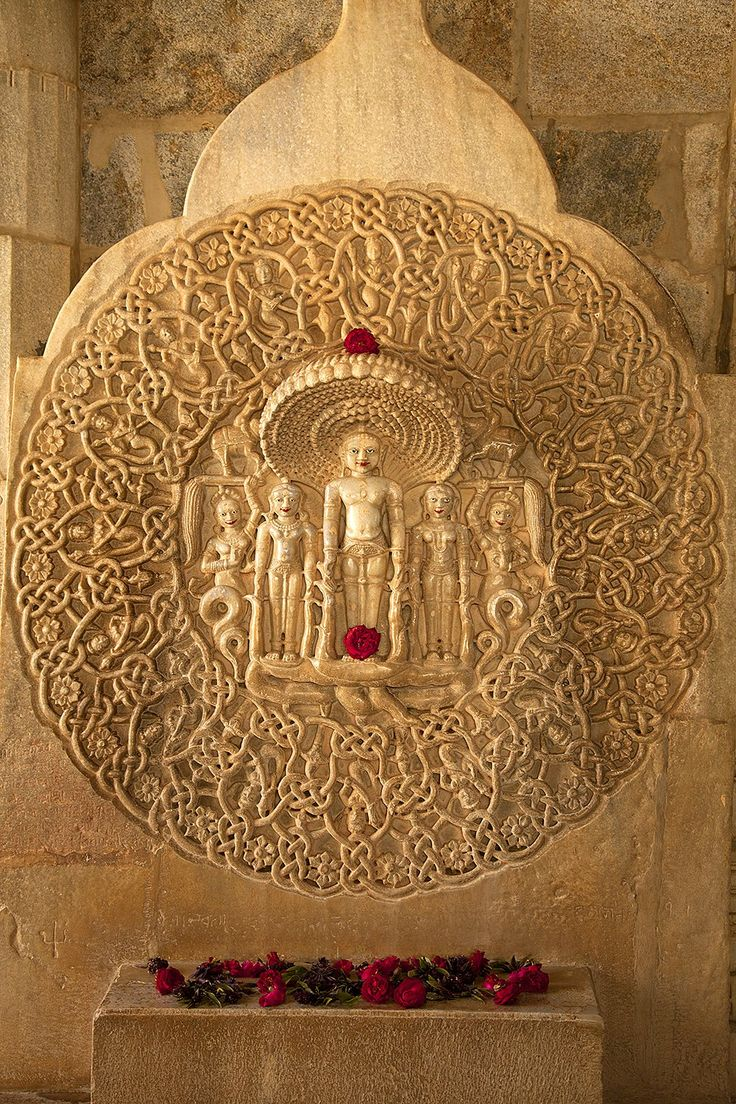 15th Century carving detail, Jain Temple. Ranakpur, India