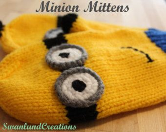 Knit Despicable Me Minion Mittens for Children, Women and Men - Edit Listing - Etsy