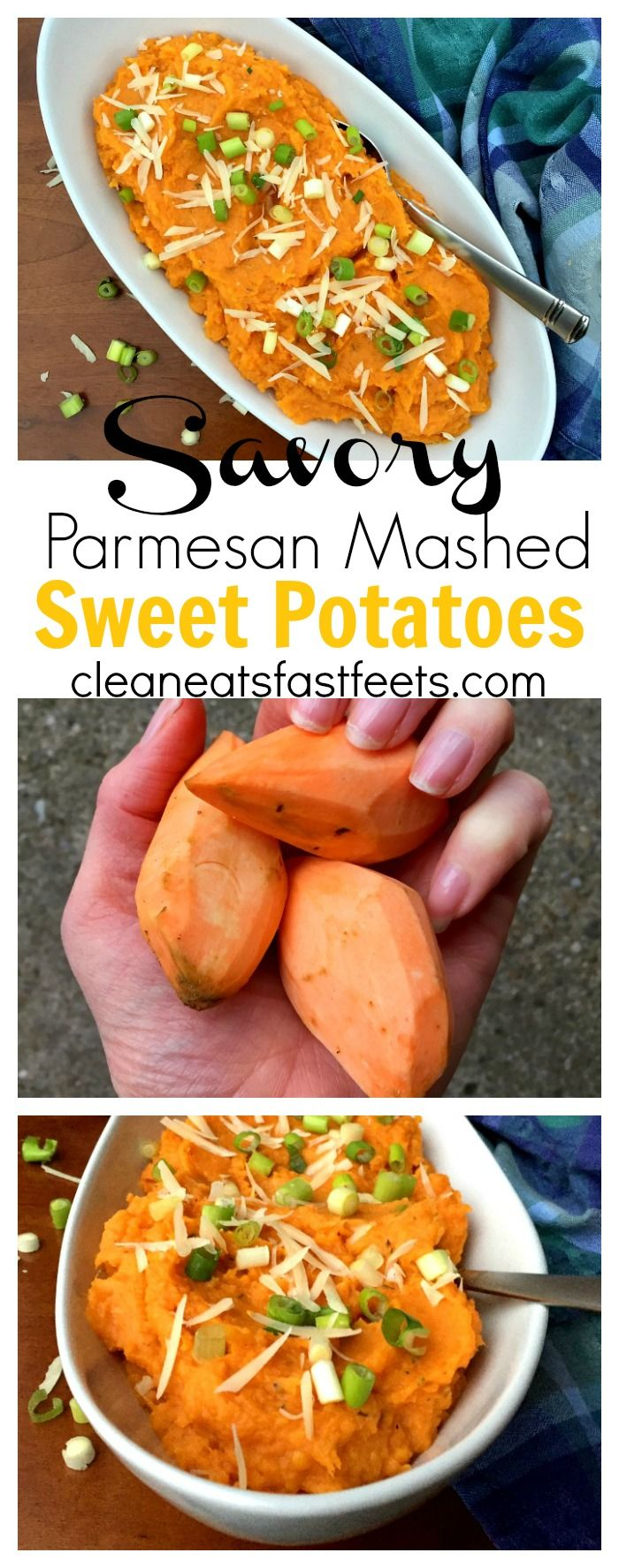 Savory Parmesan Mashed Sweet Potatoes. You want these on your table for…