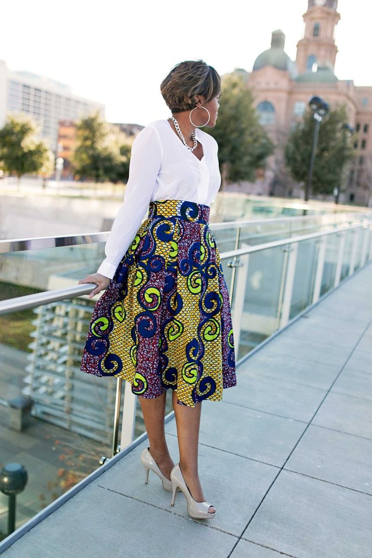 DIY Box Pleated Ankara Skirt ~African fashion, Ankara, kitenge, African women dresses, African prints, African men's fashion, Nigerian style, Ghanaian fashion ~DKK