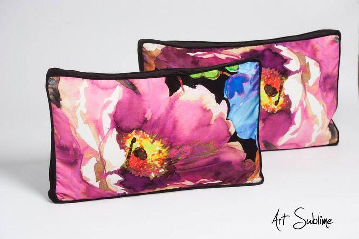 €299,00 EXTRAVAGANCE Black Blossom Pink size:65cmx45cm www.art-sublime.com Art Sublime cushion, pillow www.facebook.com/ArtAndSublime?fref=ts - #decorative pillow #cushion #decor #design #homedecor #decorative #Decorative pillow #interior design #poduszki ozdobne #artsublime #Decorate Your Home #armchair #chair #poduszki aksamitne #luksusowe poduszki