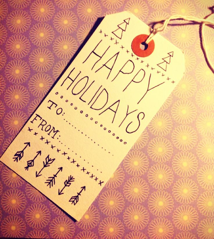 Made this super cute Xmas gift tag for only 5p! Very easily done :)