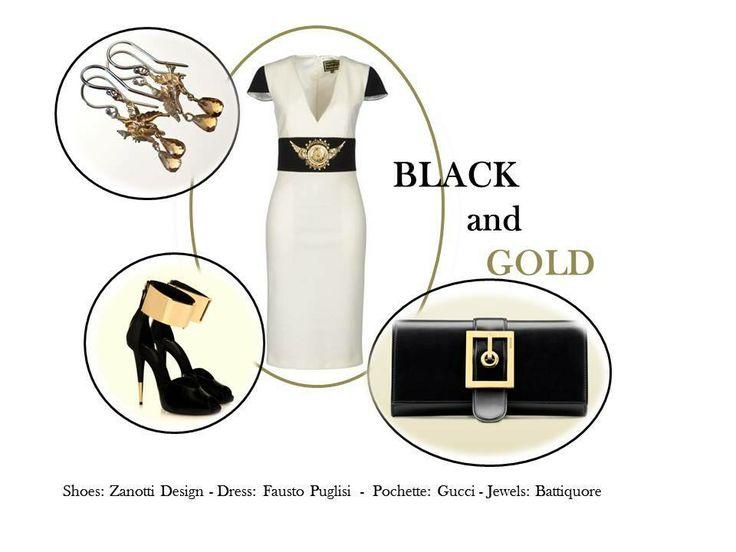 Battiquore Milano | Nero e oro, per un look deciso ed elegante, perfetto per le feste! Tu hai già deciso cosa indosserai?
