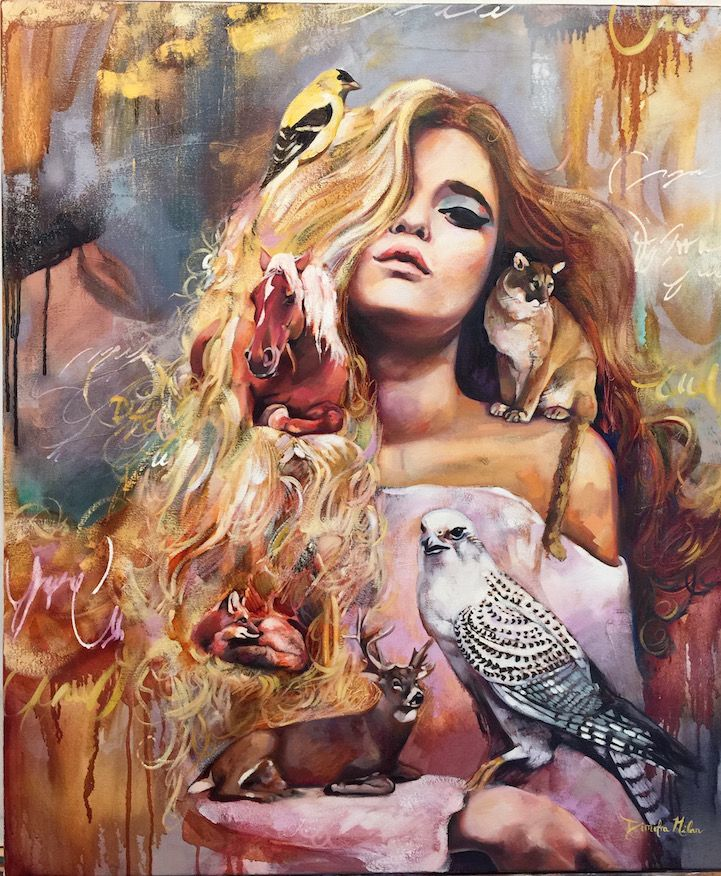 """As I begin to paint the scene, I drift into a right brain realm where I forget time and space and just sort of live inside this painting and the flow of color and brush strokes."" –Artist Dimitra Milan"
