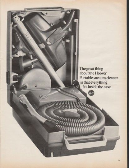 1966 Hoover Portable Vacuum Cleaner Ad Quot The Great Thing