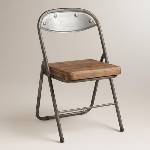 Wood & Metal Colton Folding Chairs at Cost Plus World Market >>#WorldMarket Urban Dwellings Collection