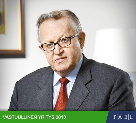 """Koostamani asiantuntija-artikkeli presidentti Ahtisaaresta ja globaalista yritysvastuusta nyt luettavissa Taloussanomien sivustolla TAEL:n Vastuullinen yritys 2013 -liitteessä.  """"Ahtisaari painottaa globaalia yritysvastuuta"""""""