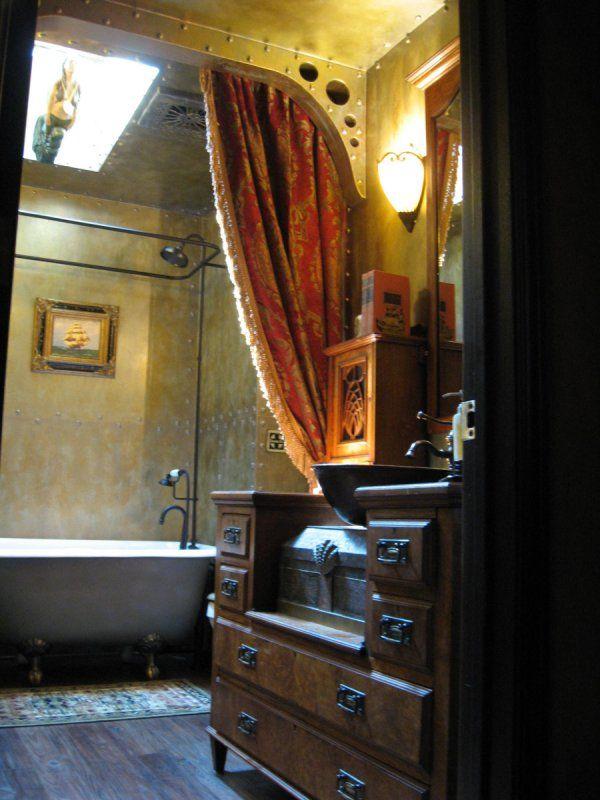 Wonderful  Light Fixture Bathroom Vanity Flush Mount Ceiling Light Steampunk