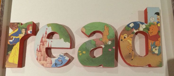 A Disney inspired set of letters for the home nursery or as a gift to family or friends. Enquire within if you're interested :).