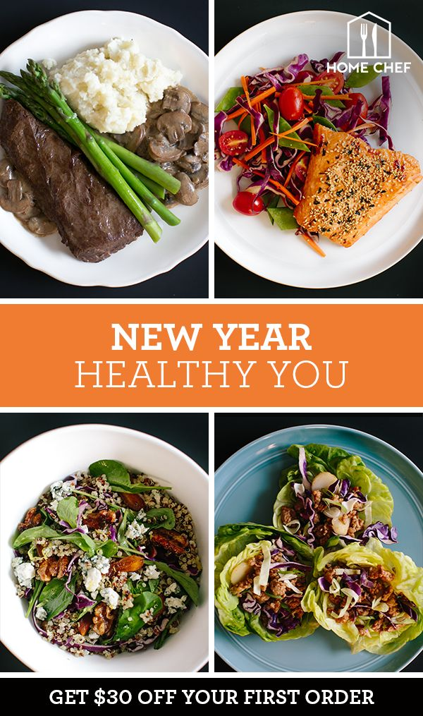Looking for some fresh and exciting recipes to kick off the New Year? Home Chef's meal delivery service has more than a dozen new recipes every week. Best of all, we send the ingredients to you so you don't have to go to the grocery store. Make dinner work around your schedule.
