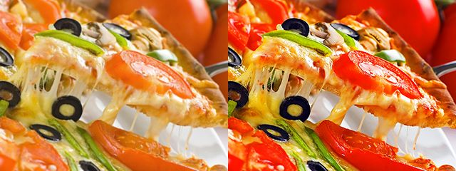 Pizza Photoshoped in Advertisements