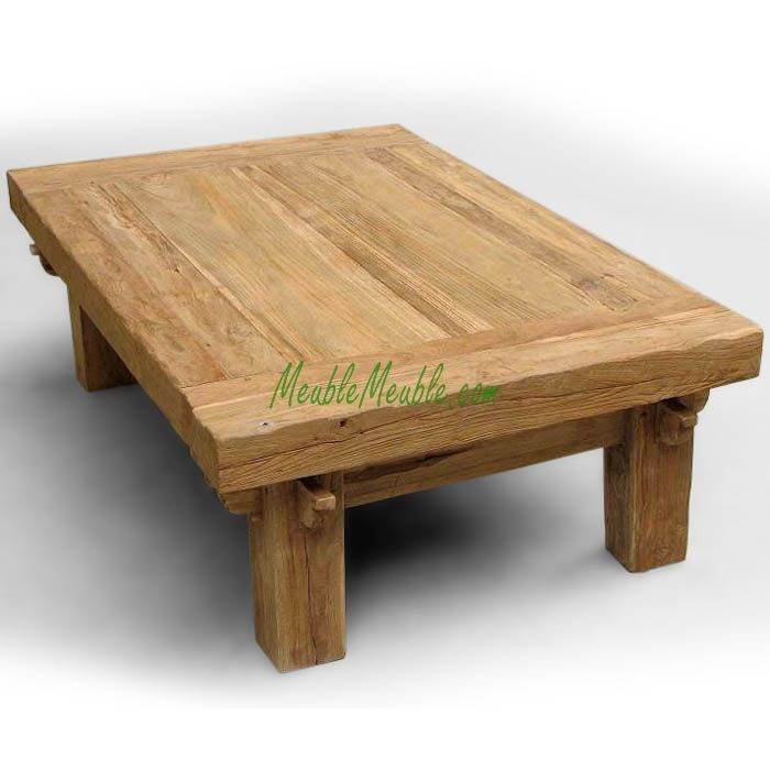 Rustic Furniture Recycled Teak Reclaimed Coffee Table