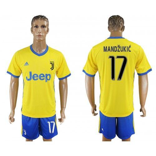 2017-18 Fußball Trikot Juventus Away 17 Mandzukic Fußball Trikot