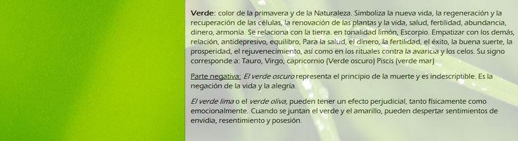 Significado del color verde para trabajos.