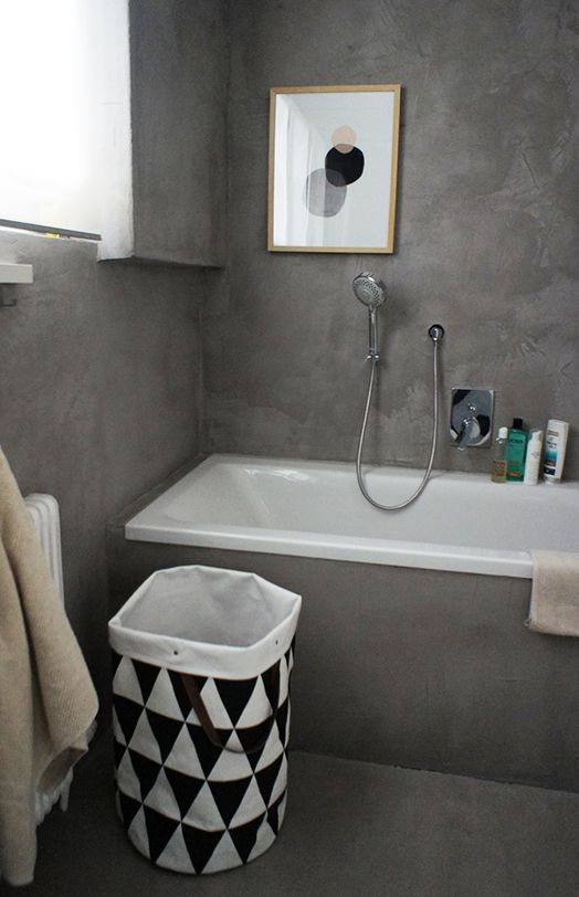 grey canvas, framed print + laundry hamper   Annipalanni