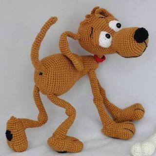 1000 схем амигуруми на русском: Вязаная собака Дуг