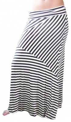 Striped Maxi Skirt.  with a messy updo, tank top, and thong sandals for summer days...  :)