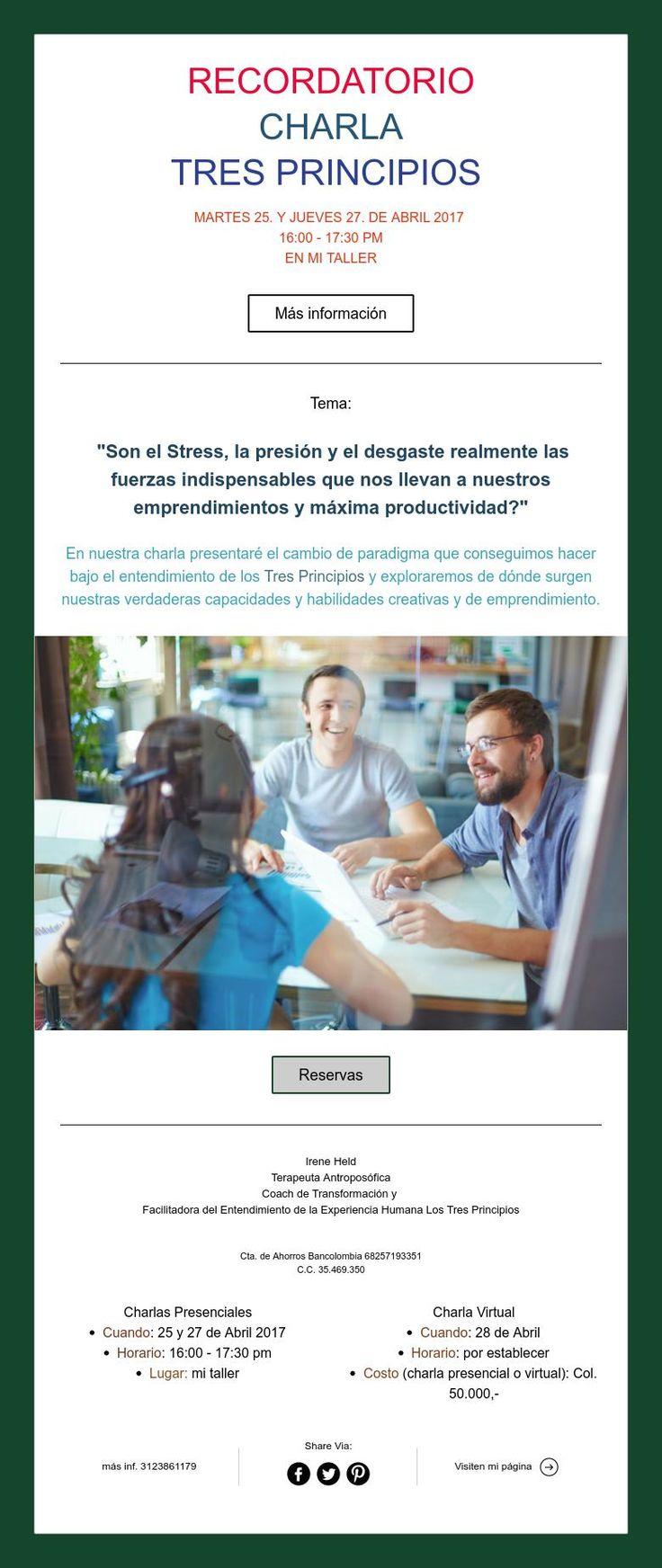 RECORDATORIO  CHARLA   TRES PRINCIPIOS