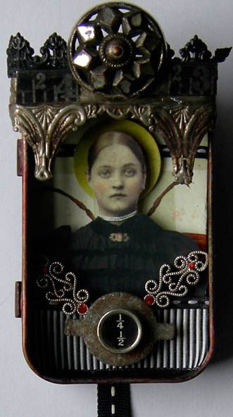 ⌼ Artistic Assemblages ⌼ Mixed Media & Collage Art - Altered Altoid Tin - shadow box art assemblage