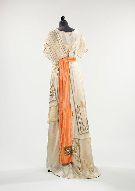 Evening dress Date: 1911–13 Culture: American Medium: silk