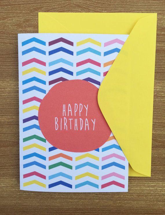 Happy Birthday card by HeidiLDesign on Etsy