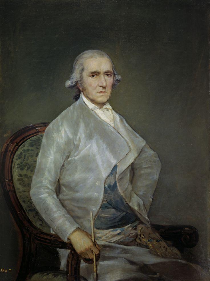 """Francisco de Goya: """"El pintor Francisco Bayeu"""". Oil on canvas, 112 x 84 cm, 1795. Museo Nacional del Prado, Madrid, Spain"""