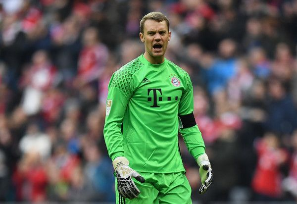Goalkeeper Manuel Neuer of Muenchen reacts  during the Bundesliga match between Bayern Muenchen and TSG 1899 Hoffenheim at Allianz Arena on November 5, 2016 in Munich, Germany.