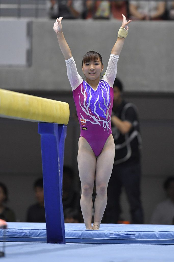 Asuka Teramoto Photos Photos - Asuka Teramoto celebrates after competing on the balance beam during Japan National Gymnastics Apparatus Championships at the Takasaki Arena on June 25, 2017 in Takasaki, Japan. - Japan National Gymnastics Apparatus Championships - Day 2 #女子 #体操 #寺本明日香