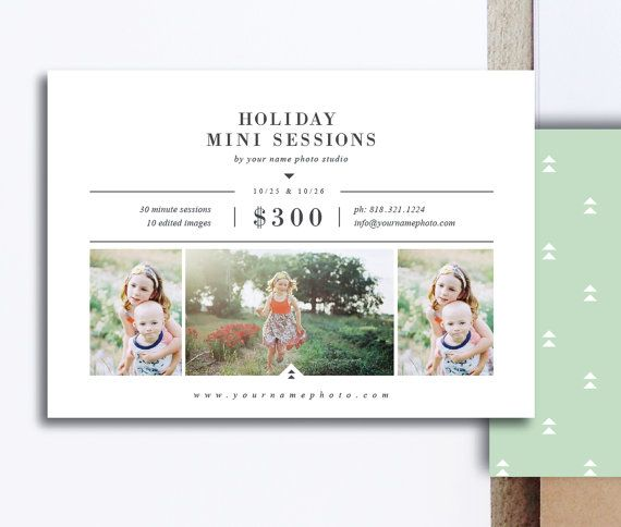 Holiday Mini Session Templates for Photographers by designbybittersweet on Etsy #photoshoptemplates