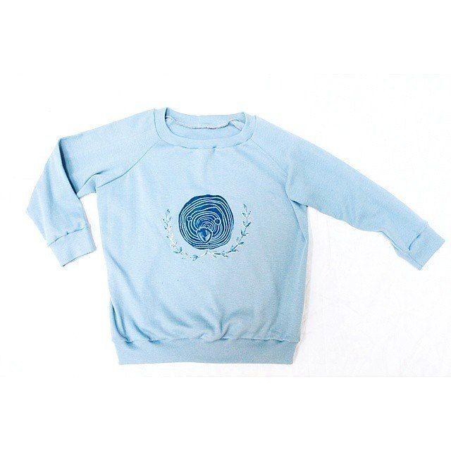 "Sweatshirt Grecha ""little bird"" for kids. Grecha kids."