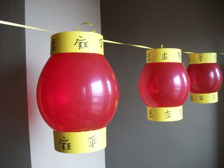 CHINESE NEW YEAR PARTY  Balloon lanterns