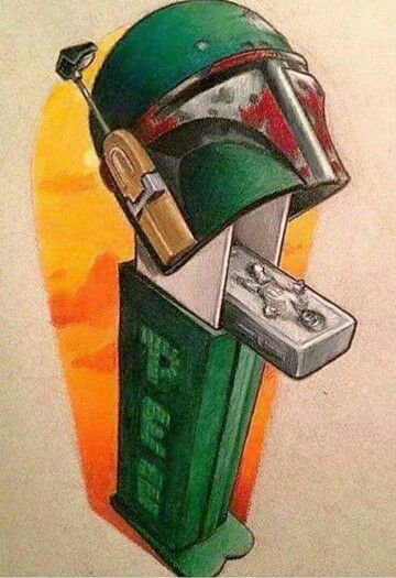 Boba Fett Pez Dispenser - dispensing Han Solo in Carbonite! #LOL