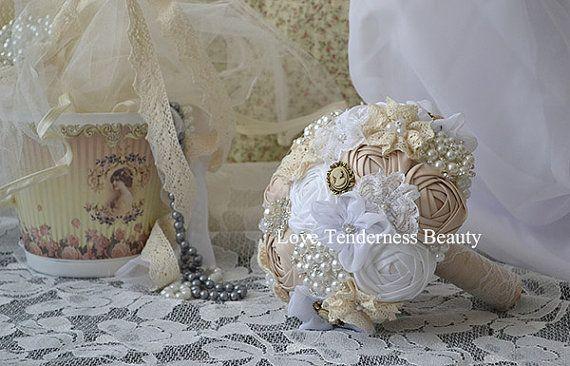 Fiori Bouquet da sposa bianco Bouquet Bouquet Champagne personalizzato damigelle Bouquet fiori matrimonio Bouquet Brooch Bouquet sposa gioielli