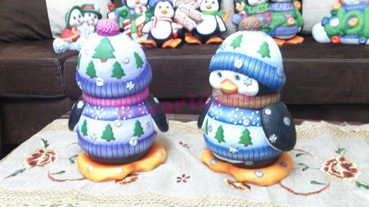 Lindos pinguinos Navideños