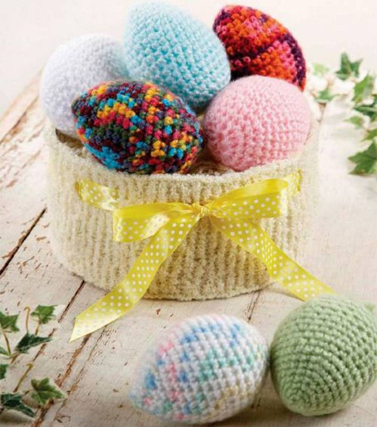 141 best crochet easter images on pinterest easter crochet crochet easter eggs knit easter basket negle Image collections