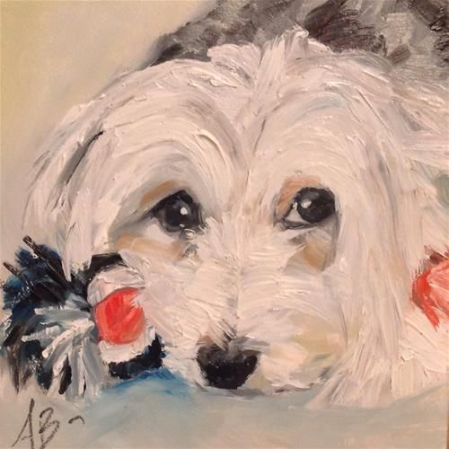 6x6 size inch oil painting by Annette Balesteri www.dailypaintworks.com