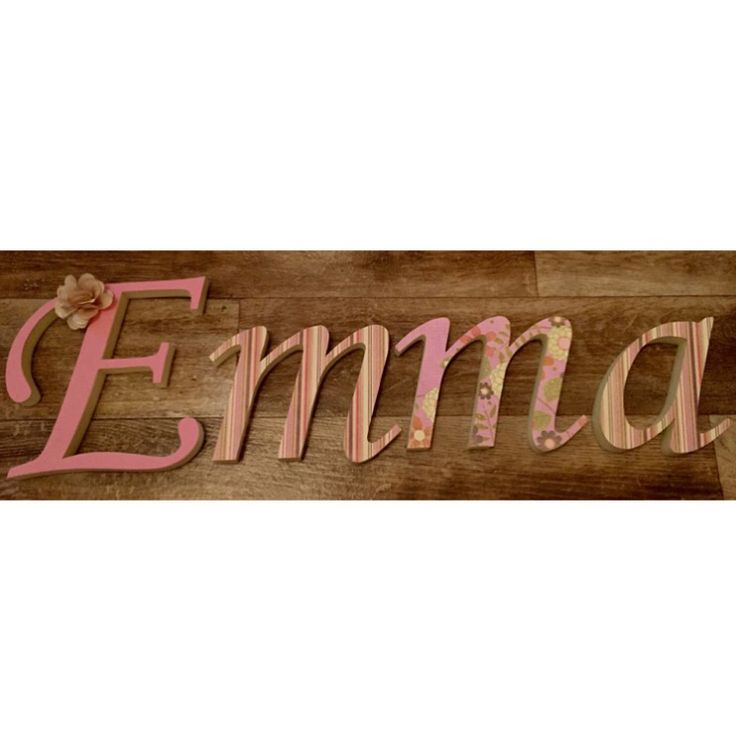 Sofitive, walldecoration, DIY, craft, wooden letters, letters, 3D, nursery, name sign, babygirl,Emma