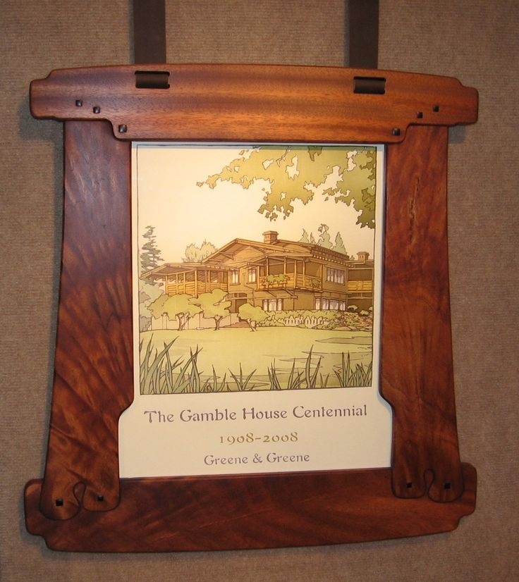 The john hall frame circa 1909 greene and greene for Bungalow style picture frames