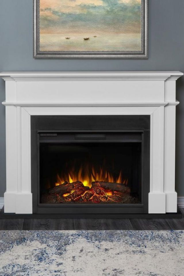 Home Depot Electric Fireplace 1 Electric Fireplace In Whit Home Home Depot Fireplace