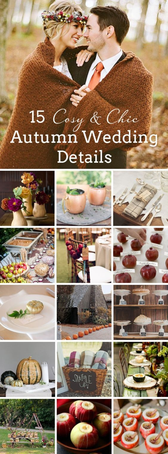 15 Stylish Ideas For Autumn (and Winter) Weddings | SouthBound Bride  Details U0026 Credits