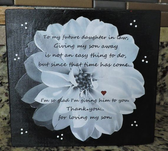 future daughter in law gift welcome to the family gift bridal shower gift gift from mother in law sentimental gift