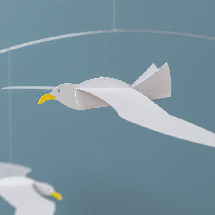 """Mobile oiseau """"Mouette"""""""