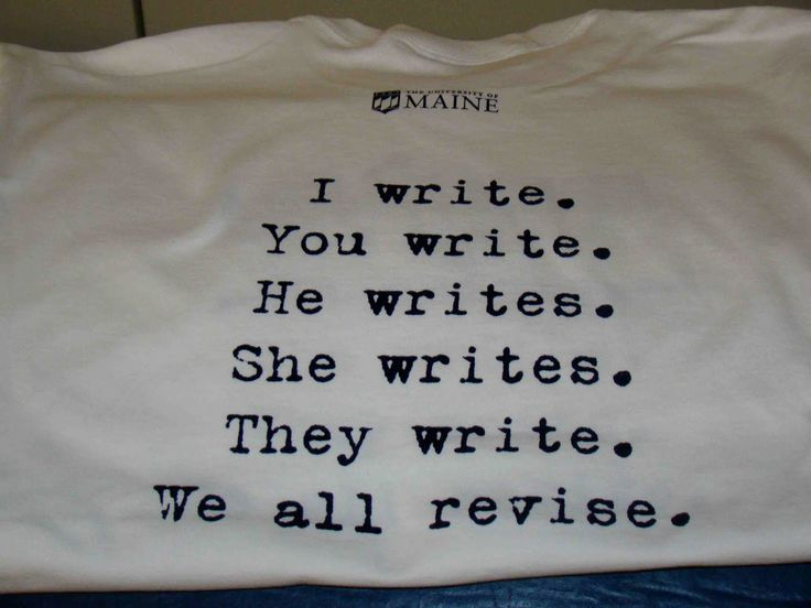 Who writes is never satisfied.