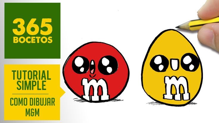COMO DIBUJAR M&M´S KAWAII PASO A PASO - Dibujos kawaii faciles - How to ...