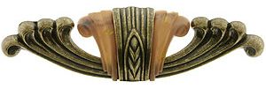 "Waterfall Furniture Pull with Bakelite Accents - 4 1/4"" Center-to-Center 