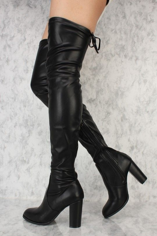 c27f64d86ea These sexy and stylish thigh high heel boots are a perfect fit to wear on  top of some cute leggings and a nice shirt to go out with.