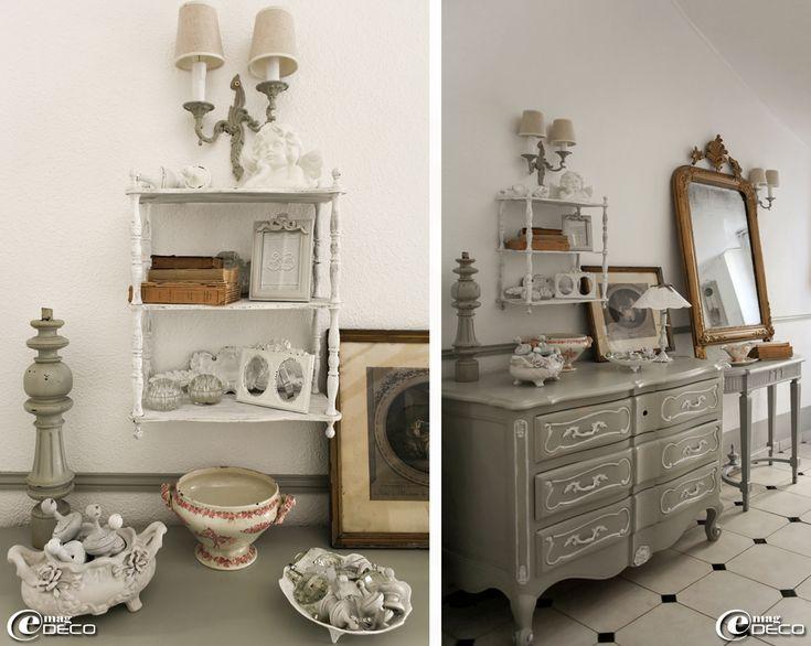 Les 25 meilleures id es concernant meubles peints style - Une puce un pou assis sur un tabouret ...
