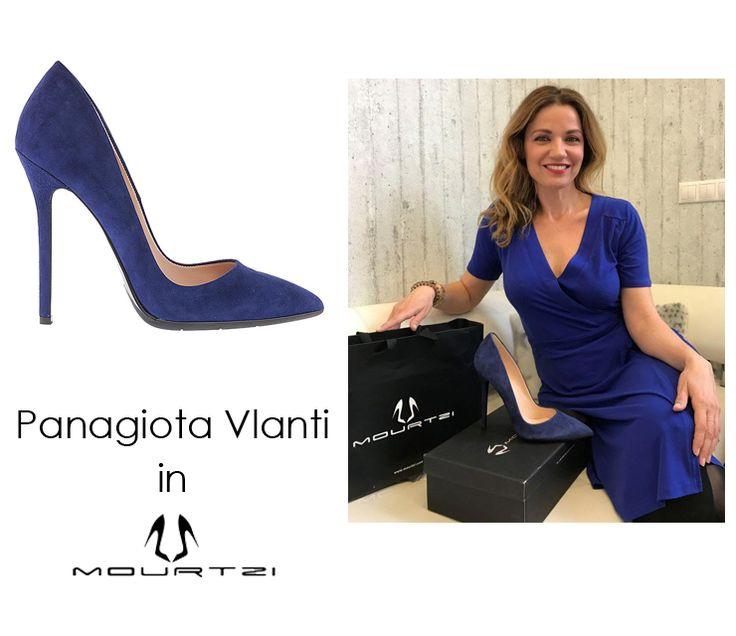 ΠΑΝΑΓΙΩΤΑ ΒΛΑΝΤΗ Panagiota Vlanti in Mourtzi shoes #mourtzi #pumps #heels